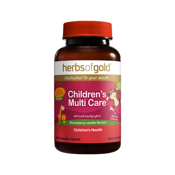 Herbs of Gold Children's Multi Care 60 Tabs