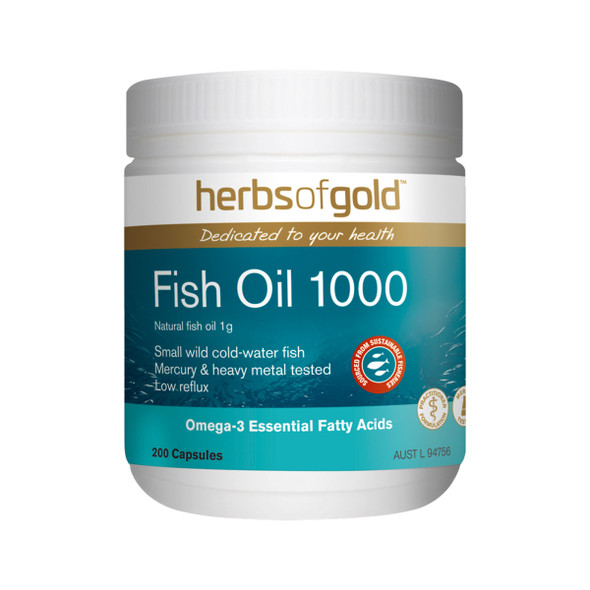 Herbs of Gold Fish Oil 1000 200 Caps