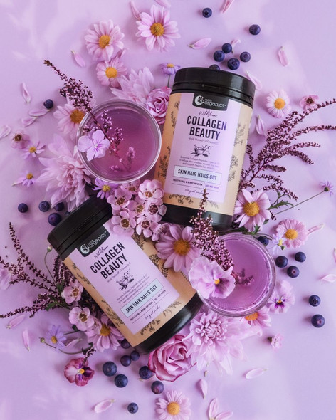 Nutra Organics Collagen Beauty w Verisol + Vitamin C Wildflower 300g