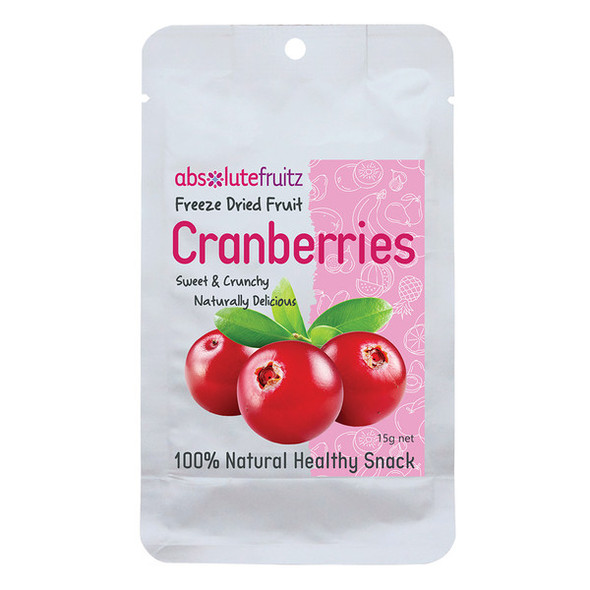 AbsoluteFruitz Freeze Dried Whole Cranberries 15g