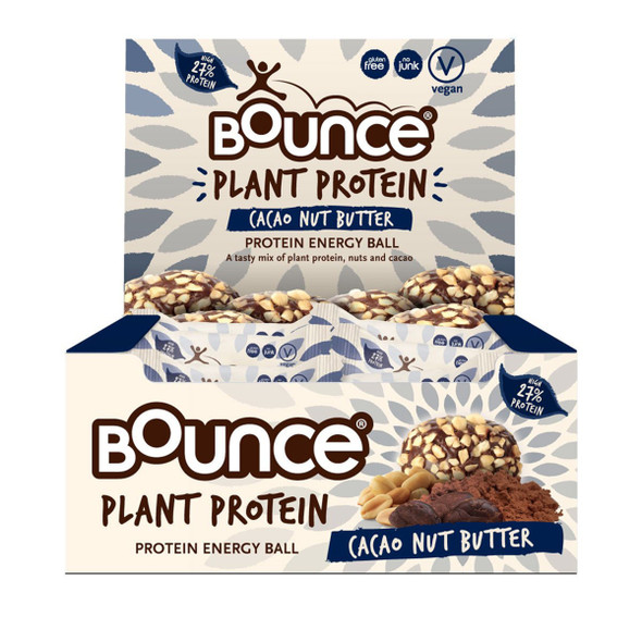 Bounce Plant Protein Balls Cacao Nut Butter 40g x 12 Box
