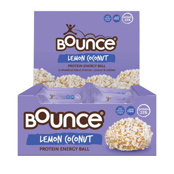 Bounce Energy Balls Lemon Coconut 40g x 12 Box