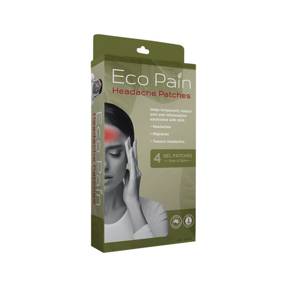 Byron Naturals Eco Pain Patches Headache x 4 Pack