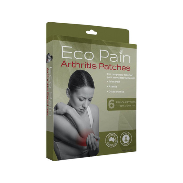 Byron Naturals Eco Pain Patches Arthritis x 6 Pack