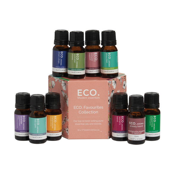 ECO Aroma Essent Oil Favourites Collection 10ml x 10 Pack