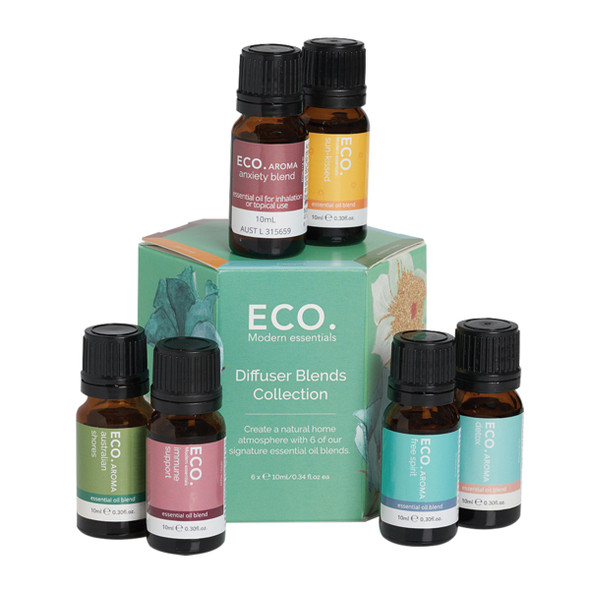 ECO Aroma Essent Oil Diffuser Blends Collection 10ml x 6 Pk