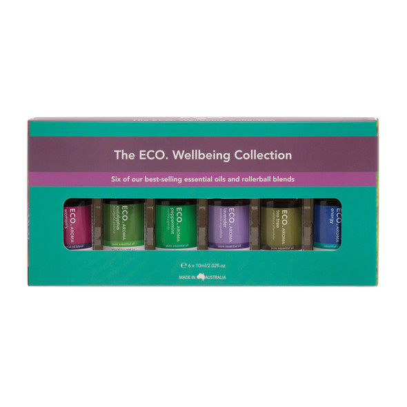 ECO Aroma Ess. Oil and RollerBall Wellbeing Collec.10mlx6Pk