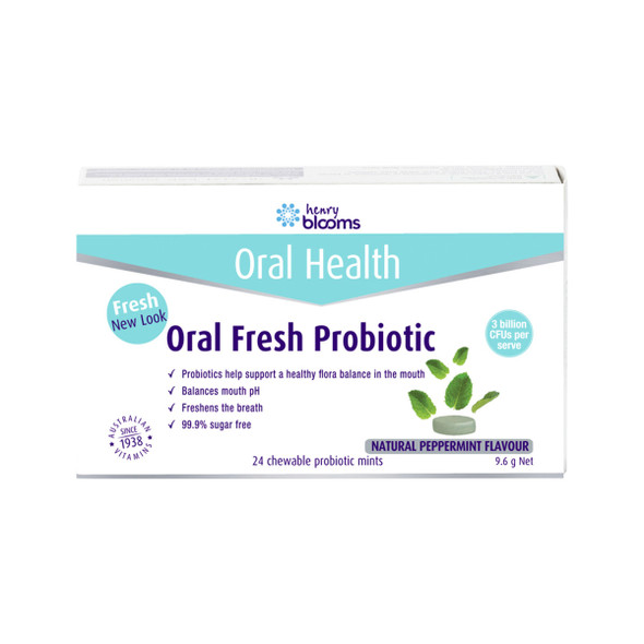 Blooms Oral Fresh Probiotic Chewable Peppermint x 24 Pack