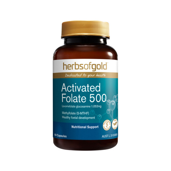 Herbs of Gold Activated Folate 500 60 Caps