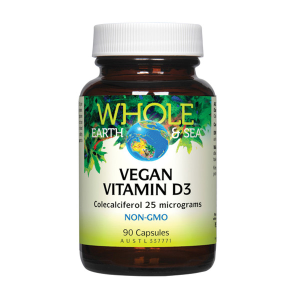 Whole Earth Sea Vegan Vitamin D3 90 Caps