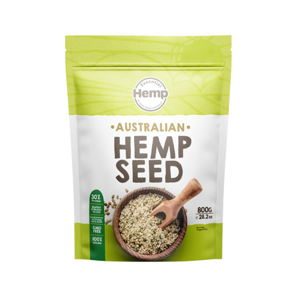 Essential Hemp Australian Hulled Hemp Seeds 800g