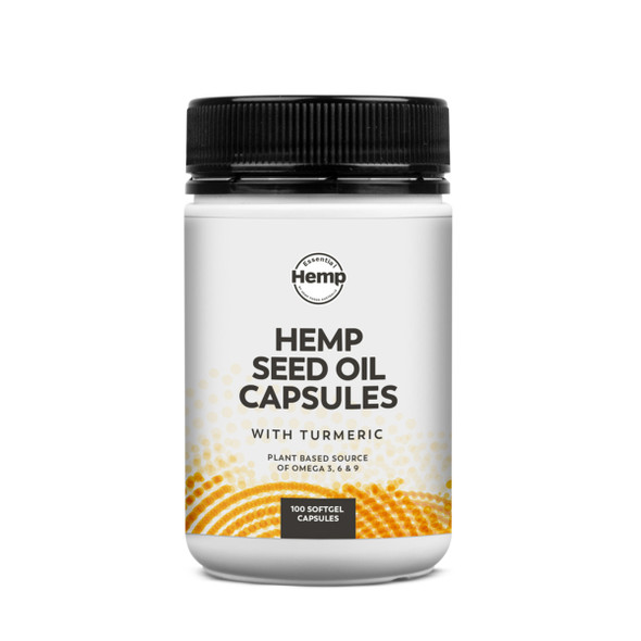 Essential Hemp Hemp Seed Oil and Turmeric Capsules 100 Caps