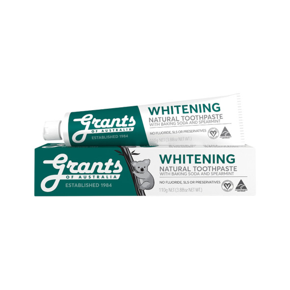 Grants Toothpaste Whitening with Baking Soda and Spearmint 110g