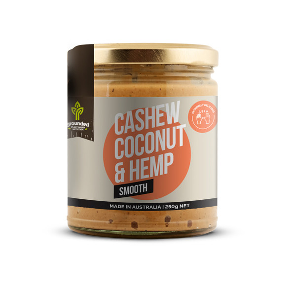 Grounded Spread Cashew Coconut and Hemp Smooth 250g