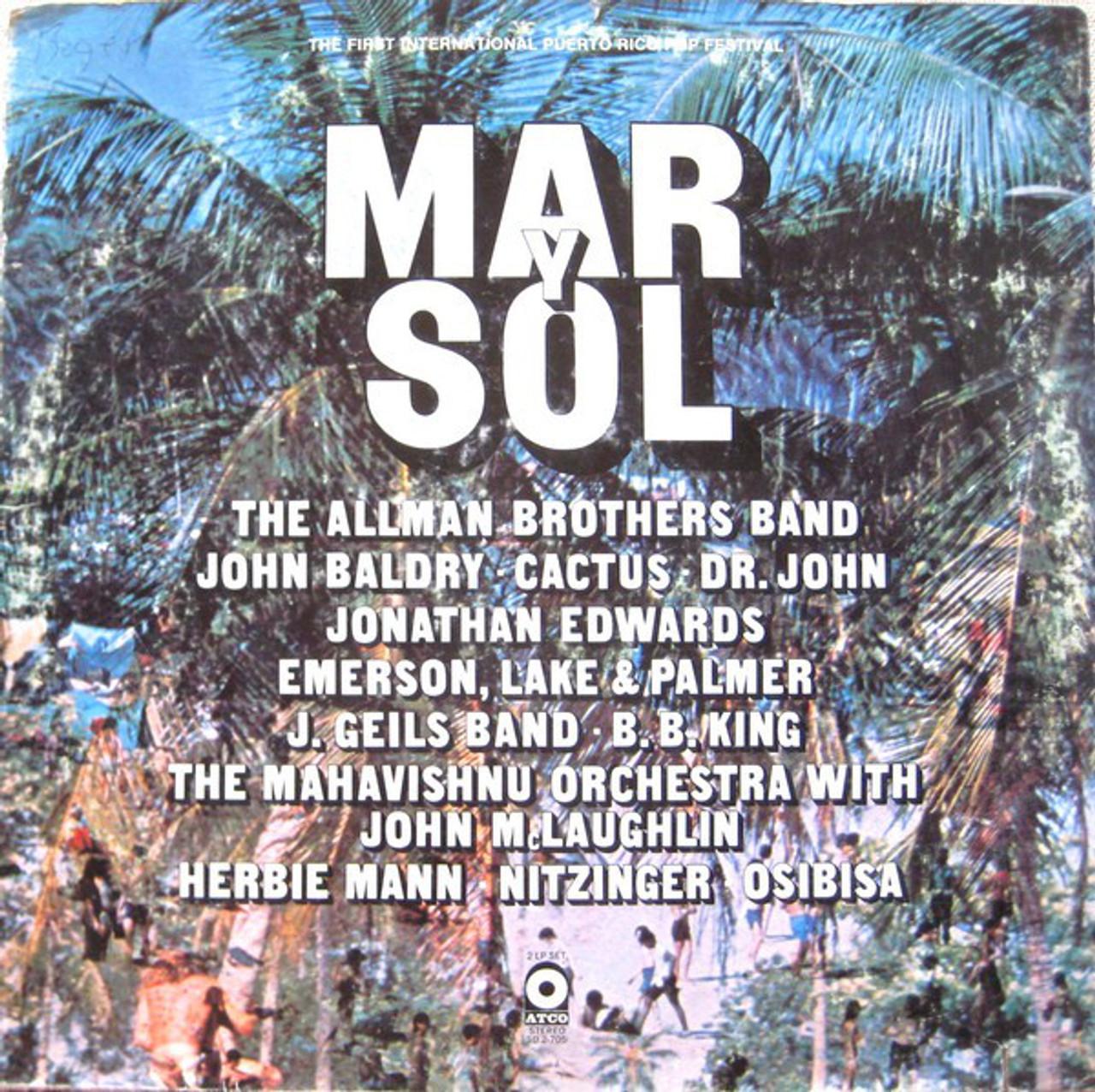 Mar Y Soul Concert 1972 - Mint DBL Vinyl LP w/Allman Bros , BB & More