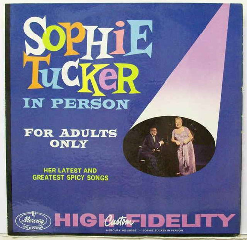 SOPHIE TUCKER in person, for adults only - Original Vinyl LP