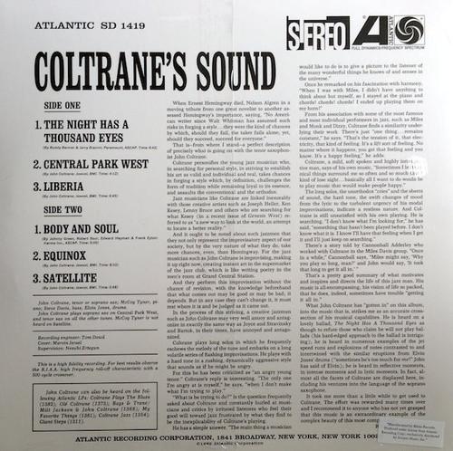 Coltrane's Sound, John Coltrane - New Vinyl LP w/MP3 Download