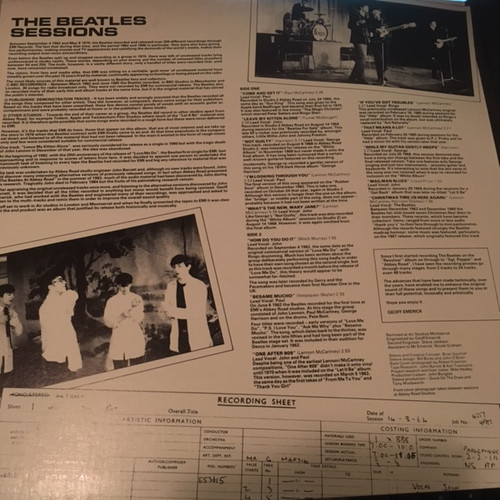 THE BEATLES Sessions - Rare 1985 UK Vinyl Import w/14 Rare Outtakes