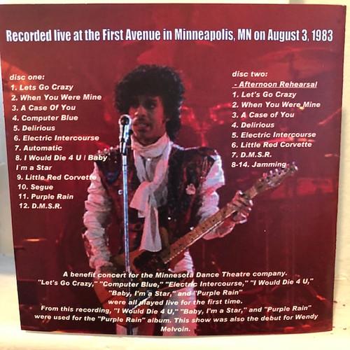 PRINCE Purple Rain Rehearsals - Double CD, Minneapolis Live, 1983