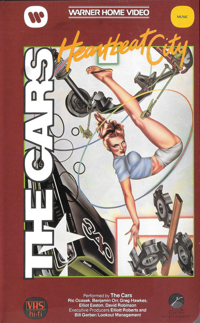 THE CARS, Heartbeat City - Like New Out-of-Print VHS Video Tape