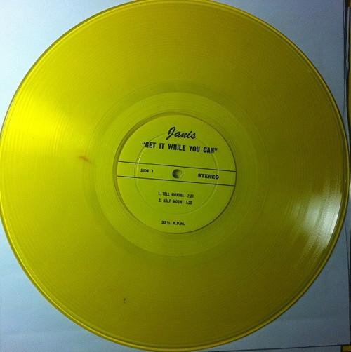 JANIS JOPLIN Get It While You Can - Rare 1970 HI Show,  Yellow Vinyl DBL LP