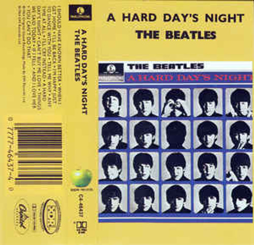 BEATLES - A Hard Day's Night, 1992 Parlophone  Label Cassette