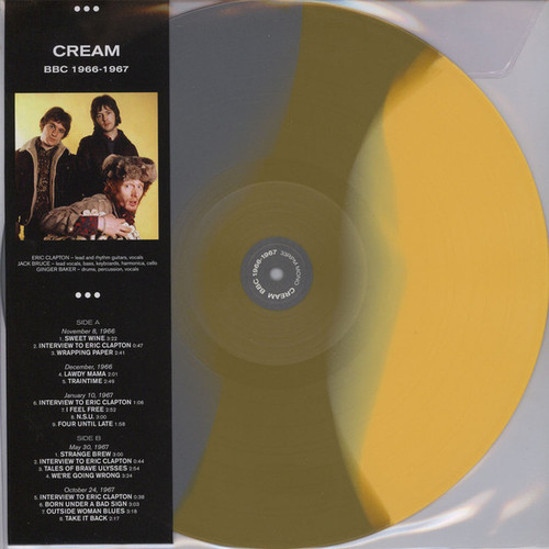 CREAM BCC 1966-1967 - New UK Colored Vinyl Import LP, Limited Edition