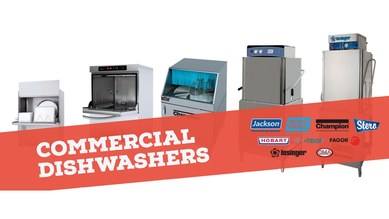 Our selection of commercial dishwashers are great for any establishment.