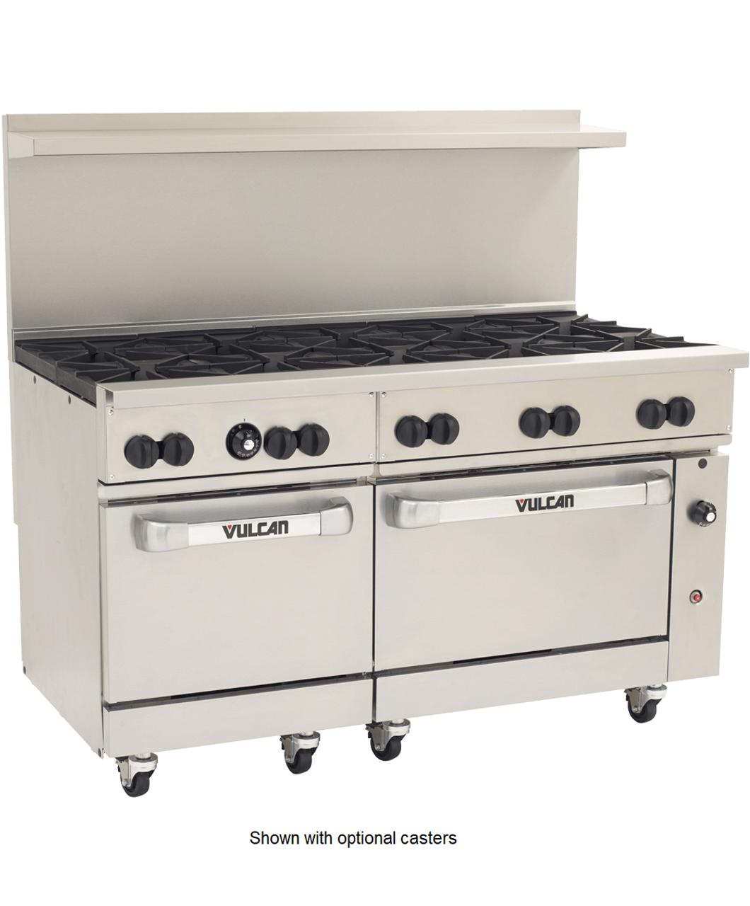 Vulcan 60SS-10BP Propane Gas Restaurant Range, 10 Burner, 2 Standard Oven,  358,000 BTU