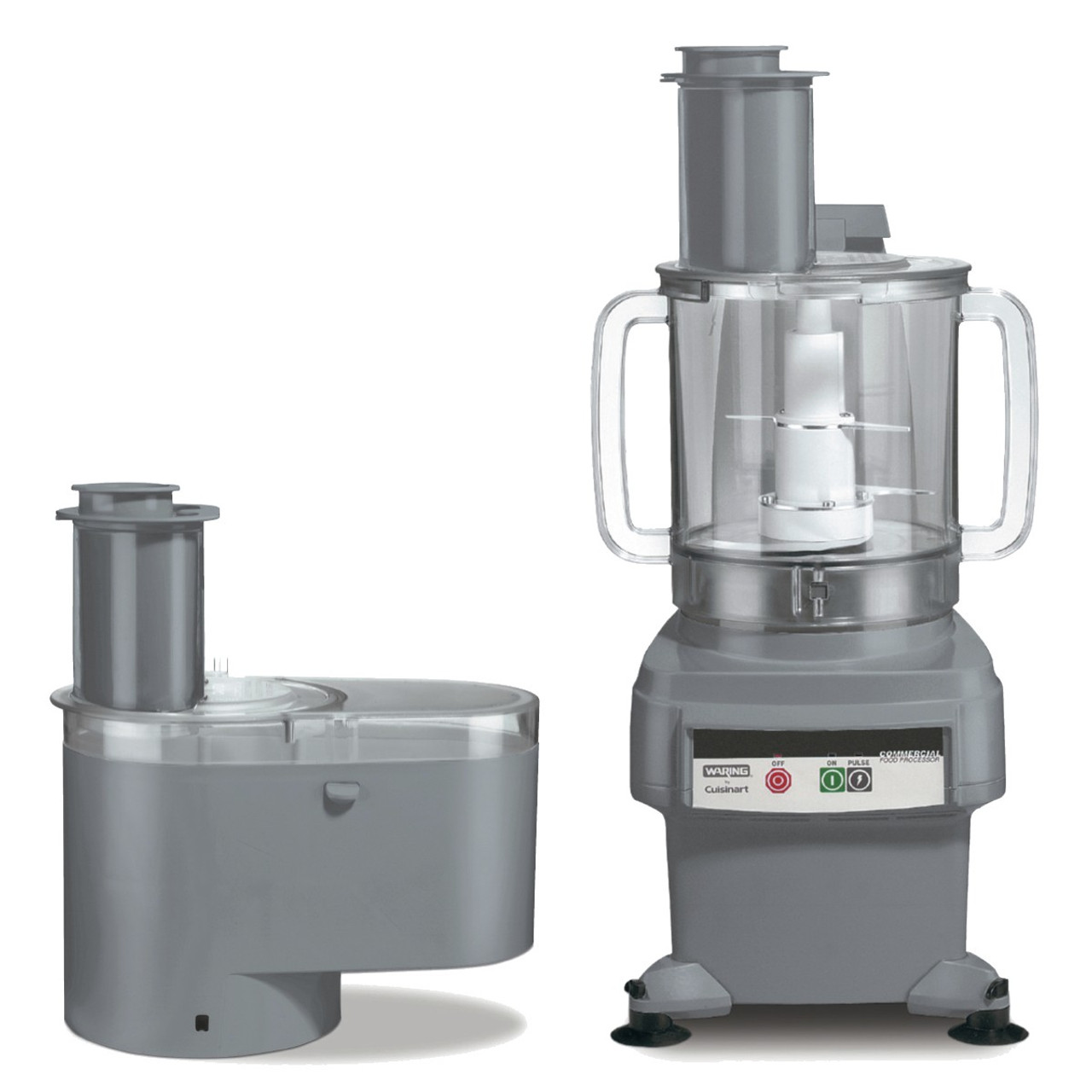 Waring FP2200 6 Qt. Combination Bowl Cutter Mixer and Continuous-Feed Food  Processor - MaxChef