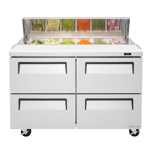 Turbo Air TST-48SD-D4-N Super Deluxe Sandwich/Salad Prep Table - 4 Drawers