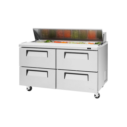 Turbo Air TST-60SD-D4-N Super Deluxe Sandwich/Salad Prep Table - 4 Drawers