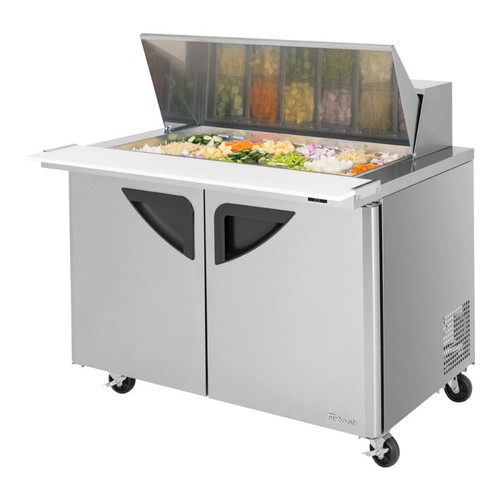 Turbo Air TST-48SD-18-N Super Deluxe Mega-Top Sandwich Salad Prep Table - 2 Solid Doors