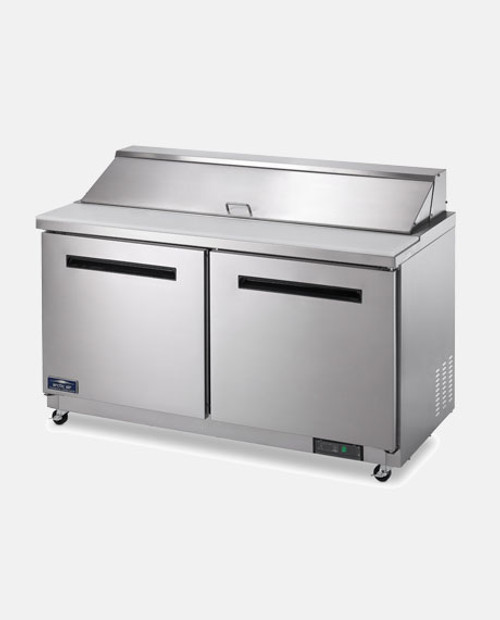 "Arctic Air AMT60R 60"" Mega Top Sandwich Salad Prep Table - 2 Doors"