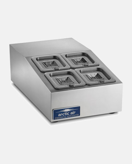 Arctic Air ACP4SQ Compact Refrigerated Countertop Food Prep Unit - 4 Pans