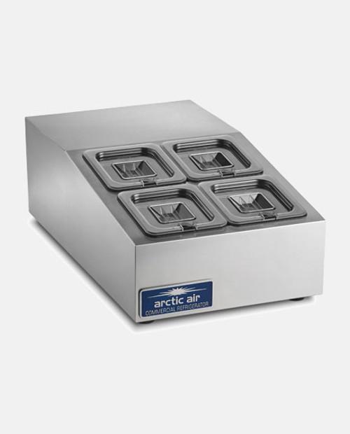 Arctic Air ACP4SQ Compact Refrigerated Countertop Food Prep Unit - 4 Pans