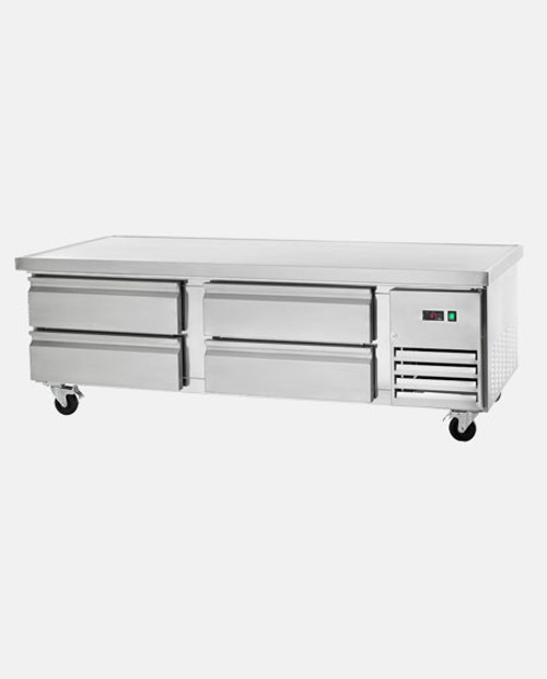 "Arctic Air ARCB72 72"" Refrigerated Chef Base, 4 Drawers"