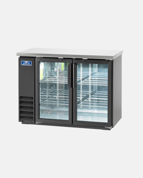 "Arctic Air ABB48G 48"" Back Bar Refrigerator, 2 Glass Doors"