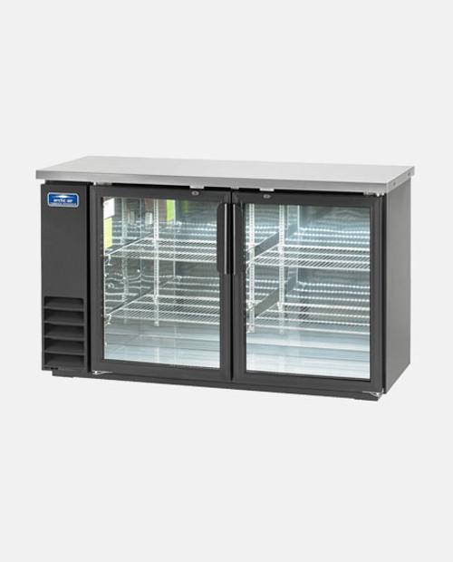"Arctic Air ABB60G 60"" Back Bar Refrigerator, 2 Glass Doors"