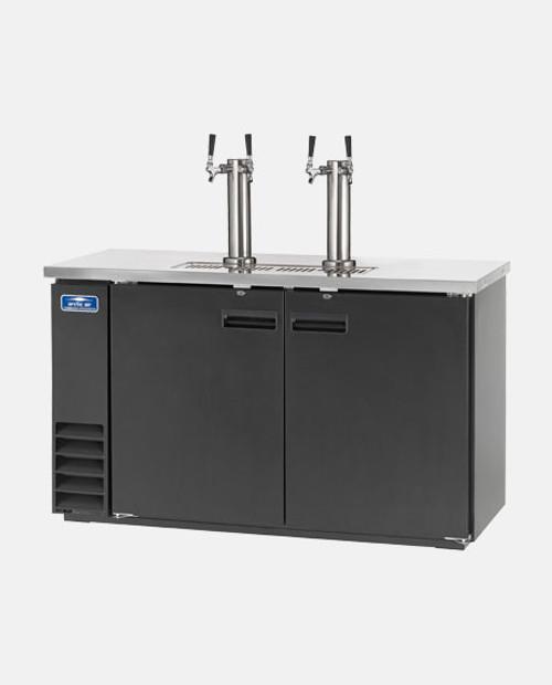 """Arctic Air ADD60R-2 60"""" 2 Double Tap Kegerator Beer Dispenser - (2) 1/2 Keg Capacity, Black"""