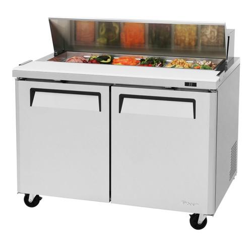 """Turbo Air MST-48-N M3 Series 48"""" Sandwich/Salad Prep Table - 2 Solid Doors"""