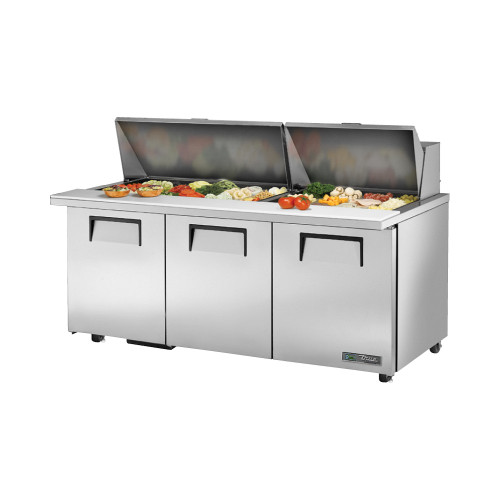 "True TSSU-72-30M-B-ST-ADA-HC 72"" Mega Top Sandwich Salad Prep Table - ADA Compliant"