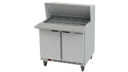 "Beverage Air SPE36HC-15M 36"" Mega Top Sandwich Prep Table"