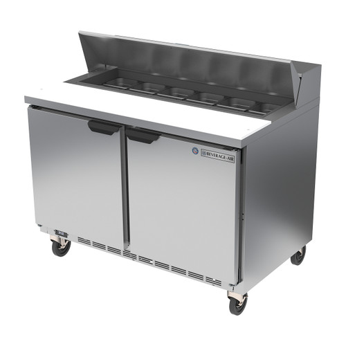 "Beverage Air SPE48HC-12 48"" Sandwich Prep Table"