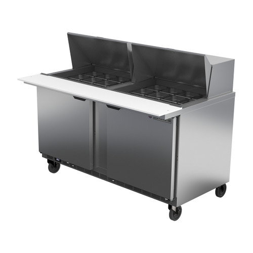 "Beverage Air SPE60HC-24M 60"" Mega Top Sandwich Prep Table"