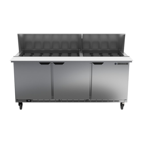 "Beverage Air SPE72HC-30M 72"" Mega Top Sandwich Prep Table"
