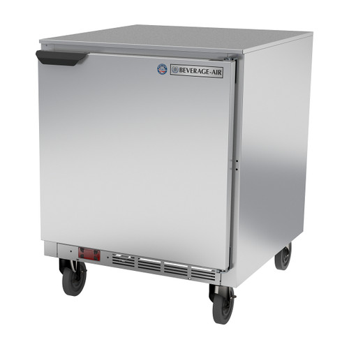 "Beverage Air UCF27AHC 27"" Single Solid Door Undercounter Freezer"