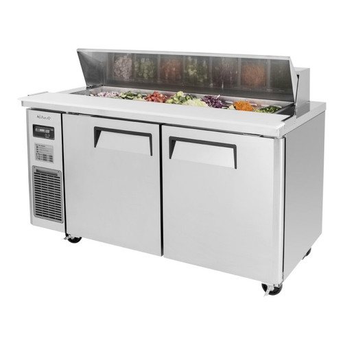 Turbo Air JST-60-N J Series Sandwich/Salad Prep Table, Side Mount, 2 Solid Doors