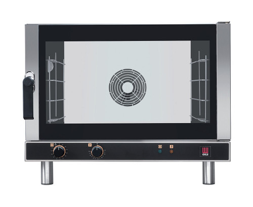 EKA EKFA 464 AL Electric Full Size Convection Oven with Manual Control, Left Door - 4 Trays - 208/240V