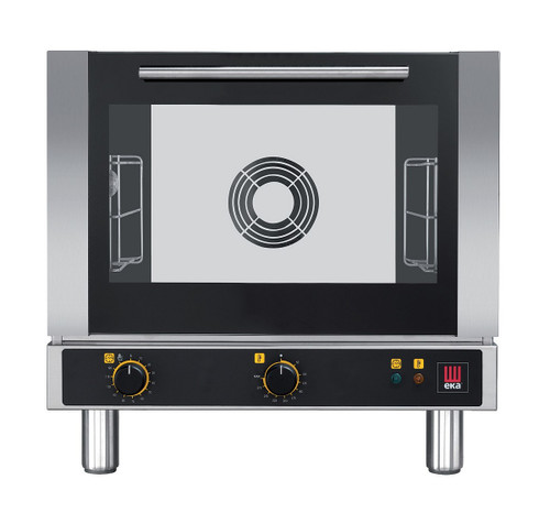 EKA EKFA 312 Electric Half Size Countertop Convection Oven with Manual Controls - 3 Trays - 120V